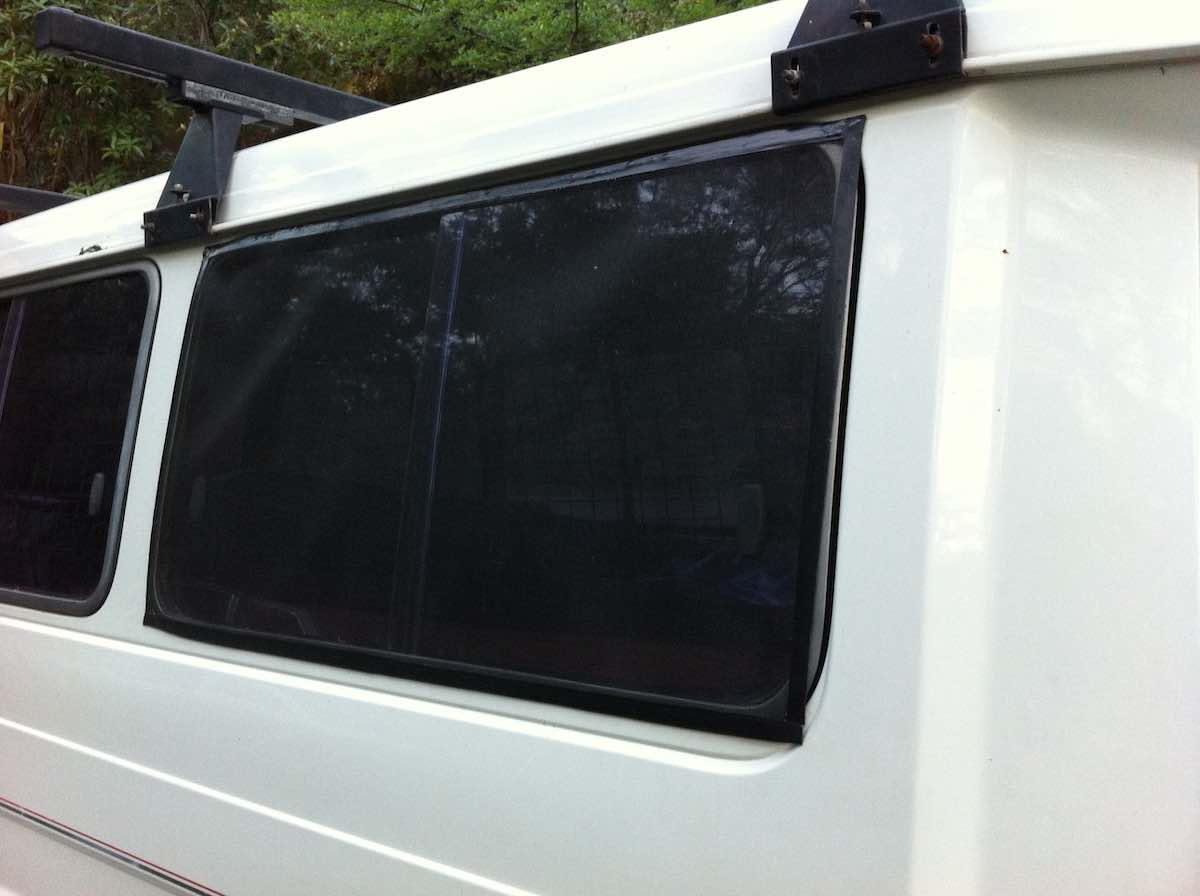 magnetic insect screen for camper van